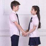 Los uniformes escolares de la manera, todos califican los uniformes escolares primarios, camisa de la escuela de la muchacha del muchacho