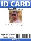 Cartão plástico da identificação de foto de RFID