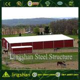 Arena de interior de acero del montar a caballo del edificio de acero de China