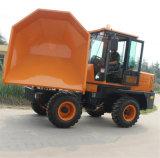 Descarregador hidráulico do local do caminhão 3.0ton de transferência do lixo mini
