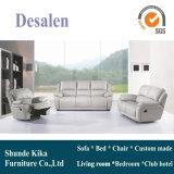 Mobiliário de sala de estar, móveis de casa, sofá reclinável de couro (GA08)