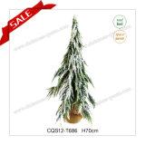 LED H2.3 발 바늘 소나무 눈을%s 가진 플라스틱 크리스마스 나무