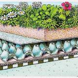 ISOの高品質1.2mmの厚さのポリ塩化ビニールPVC屋上庭園の防水膜