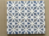 Blue Flower Design Waterjet Marble Tile Décoration murale