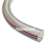 明確なPVC鋼線の補強されたホース/PVCのばねのホース