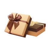 De vrij Vierkante Doos van de Gift met Fijne Bowknot, de Doos van de Gift van de Producten van het Huwelijk
