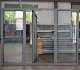 Finestra di alluminio della stoffa per tendine di alta qualità Kz017 con la lastra di vetro di difficoltà