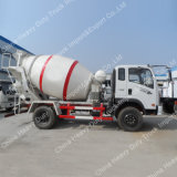 Sinotrukの軽量コンクリートミキサー車3m3の具体的な輸送のトラック