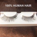 Sferze false Handmade dell'occhio della sferza della striscia dei capelli umani di 100%