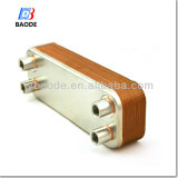 Steel inoxidable AISI 316 Plates Copper Brazed Plate Heat Exchanger pour Solar Water Heating System