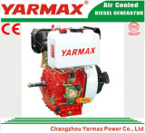 Lucht van Yarmax koelde het Enige Elektrische Begin van de Cilinder 186f 6HP 7HP met de Dieselmotor van Ce ISO