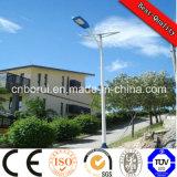 alto lumen di 10m 80W per il villaggio, sosta, giardino, strada, indicatore luminoso alimentato solare del parcheggio LED, indicatore luminoso di via solare di buoni prezzi