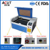 Sello de escritorio pequeño goma de la máquina de grabado láser de China
