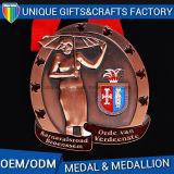 Medaglioni molli di sport della medaglia del ricordo dello smalto del metallo