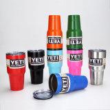 Copos isolados da caneca de cerveja do veículo do copo do refrigerador do Tumbler do Rambler do Yeti do aço 20oz 304 inoxidável vácuo colorido