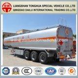 reboque líquido do tanque do aço inoxidável de armazenamento de petróleo 47cbm Semi