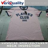 de Dienst van de Inspectie van de Kwaliteitsbeheersing voor de Hals van Logotee Shirtsslvcrew in Ningbo