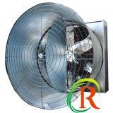 RS 시리즈 벽--작업장을%s 압력 환기를 가진 거치된 배출 콘 팬