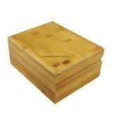 Твердая Bamboo одиночная деревянная коробка подарка вахты