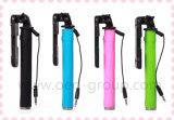 Selfieの棒のペンのサイズのMonopod最高のFoldable小型ワイヤーで縛られたSelfieの棒