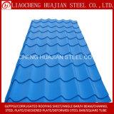 Hoja acanalada coloreada del material para techos para el edificio
