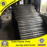 Dekorativer Umlauf-prägendes Stahlrohr für Treppen-Handlauf