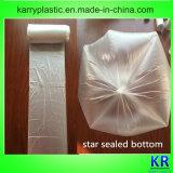 Sacos lisos do HDPE desobstruído com parte inferior selada estrela