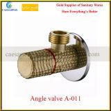 Válvula de ángulo de cobre amarillo