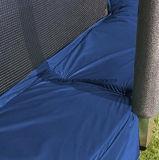 [10فت] [ترمبولين] زرقاء مستديرة مع أمان إحاطة شبكة و4 ساق