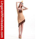 Indisches Mädchen-asymetrisches Kleid der reizvollen Frauen mit Troddel-Rand