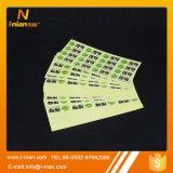 Autoadesivo trasparente di vendita della stampa su ordinazione calda di marchio