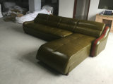 Color verde L moderno sofá del cuero de la dimensión de una variable (C22)