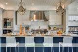 大理石の上(WH-D270)が付いている白い純木浜様式の食器棚