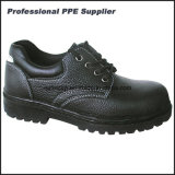 Zapatos de seguridad de cementación del trabajo de la alta calidad escotada del cuero genuino