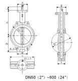 Válvula de mariposa de la oblea Tht D71X-10/16