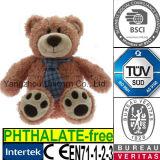 Animal enchido macio do CE com o urso da peluche do brinquedo do luxuoso do laço