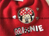 Nach Maß Zeichen-Karikatur gedruckte roter WinteracrylKnitbeanie-Schal-Handschuhe eingestellt