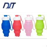 Бутылка воды спорта силикона нестандартной конструкции 520ml портативная складывая