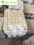 Azulejos de mosaico de mármol amarillentos de Crema Marfil para la decoración interior y exterior