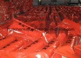 Boum de confinement de pétrole de PVC/frontière de sécurité industriels, emballement pétrolier de PVC de flotteur