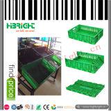 果物と野菜のための緑色のプラスチックFoldableボックス