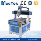 Router Akm6090 do CNC de Jinan Acctek para o metal! Máquina giratória de madeira do CNC