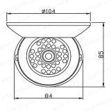 câmera plástica da abóbada do IR da fiscalização de 720p Ahd