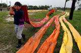 Boom de óleo de PVC, proteção de algas PVC Boom com rede