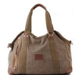Tote de Lona Bolsa Exportação Mulher da senhora que costura o saco de couro do plutônio (RS-RT0026)