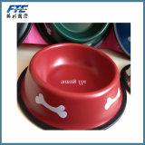 Tazón de fuente plástico portable colorido del animal doméstico