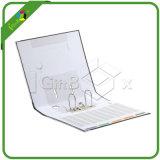 Carpeta de fichero de papel hecha a mano de la talla 4D de la carpeta de fichero de la carpeta de anillo A4