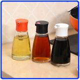 Le choc en verre de poivre place la bouteille en verre de condiment pour l'épice/sauce soja/vinaigre