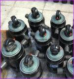 Sob o cilindro hidráulico telescópico do corpo