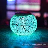Éclairage LED solaire changeant coloré de Tableau de mosaïque de luminescence